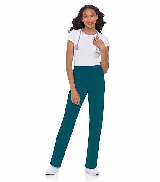 Landau Women's Classic Fit Tapered Leg Scrub Pants-8320 (Caribbean Blue - XXL Petite)