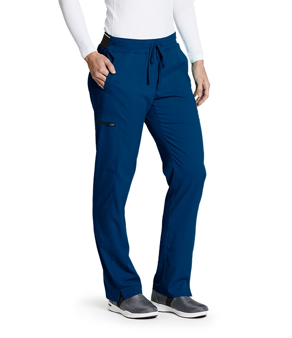Grey's Anatomy Spandex Stretch Women's Drawstring Cargo Scrub Pants-GRSP500 (Indigo - XX-Lar