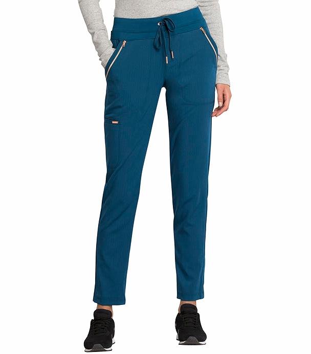 Cherokee Statement Slim Tapered Leg Drawstring Scrub Pants -CK055 (Caribbean Blue - XXL Petite)