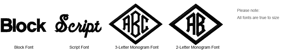 Fonts for Embroidery