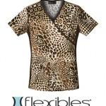Cherokee Flexibles 2988C Leopard Print Top