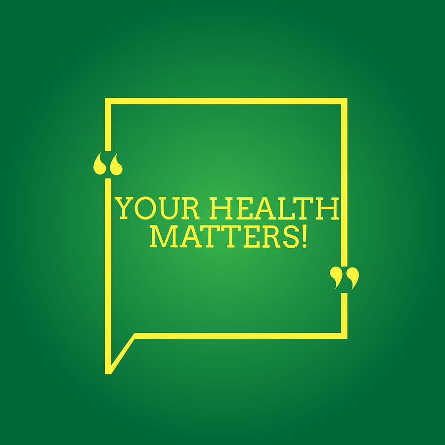 Text Sign Showing Your Health Matters. Conceptual Photo Physical