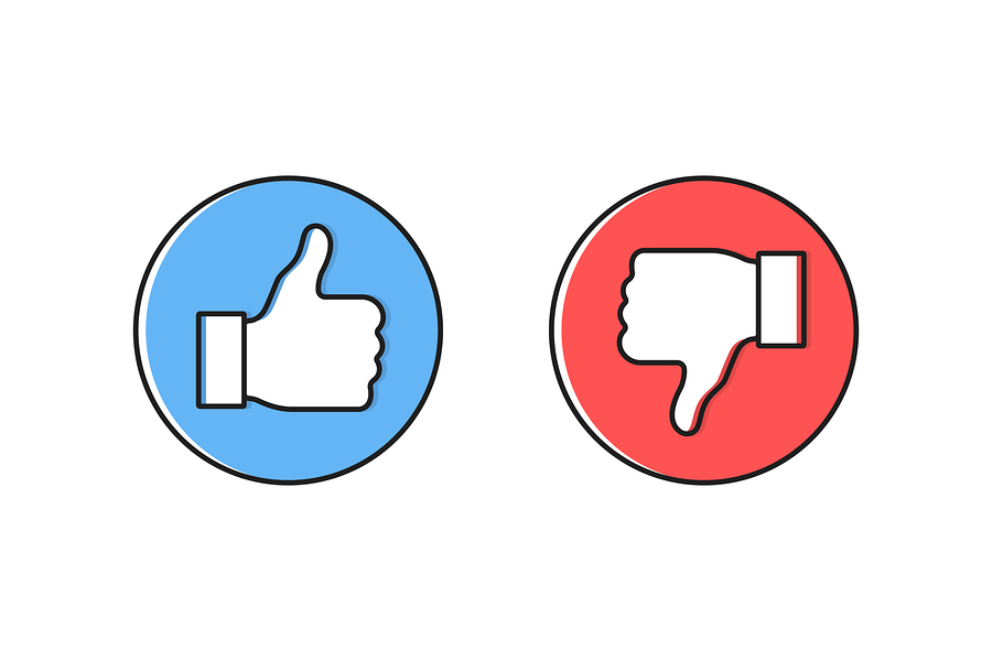 Dos And Donts Like Thumbs Up Or Down. Like Or Dislike. Vector Il