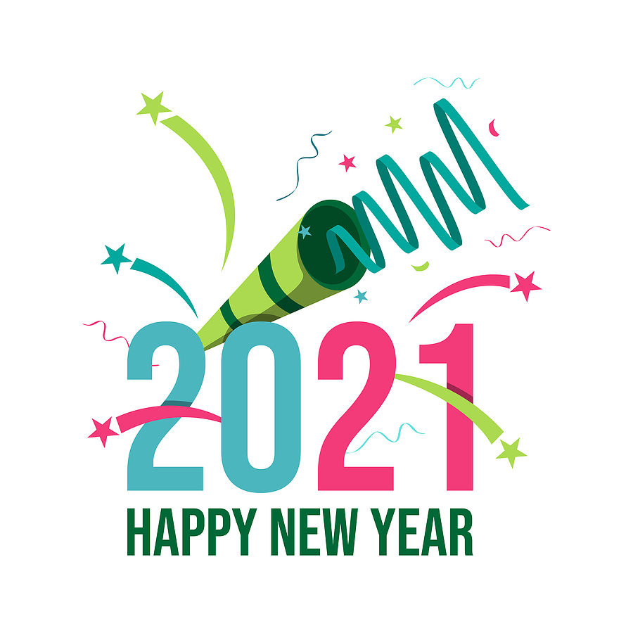 Happy New Year 2021 Background Vector