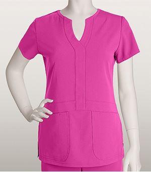 Grey's Anatomy Signature 2 Pocket Fashion Notch Neck Top 2116