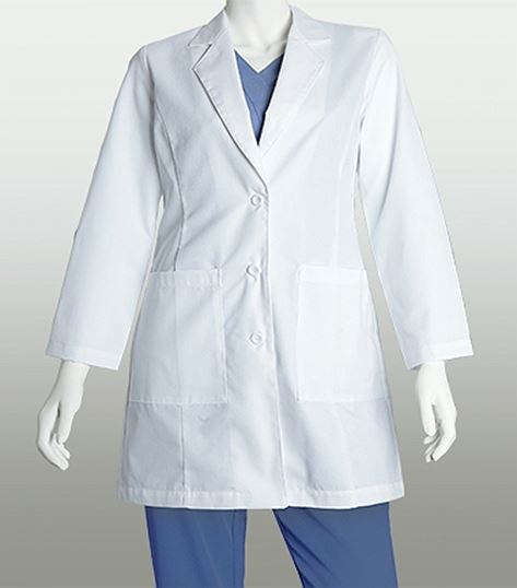 Lab Coats by Barco 35 Inch 2 Pocket Lab Coat With Princess Seams 27146