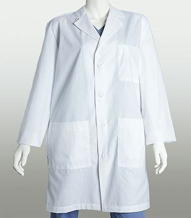 "Lab Coats by Barco Unisex 38"" 3 Pocket White Lab Coat-29116"