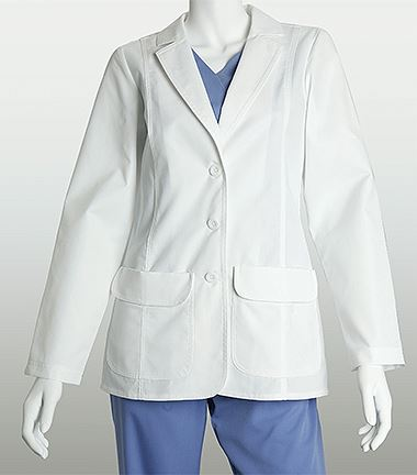 "Lab Coats by Barco 28"" 2 Flap Pocket White Lab Coat-4412"