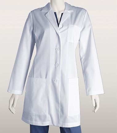 ICU by Barco 34 Inch 5 Pocket Lab Coat With Princess Seams 4451