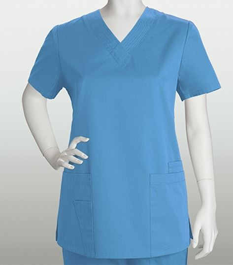 ed3e1a2a329 ICU by Barco 4 Pocket V-neck Top With Stitch Detail 71150 | Medical Scrubs  Collection