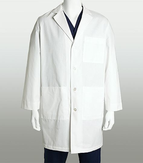 "Mr. Barco Men's 38"" 4 Pocket White Plus Size Lab Coat-9103A"