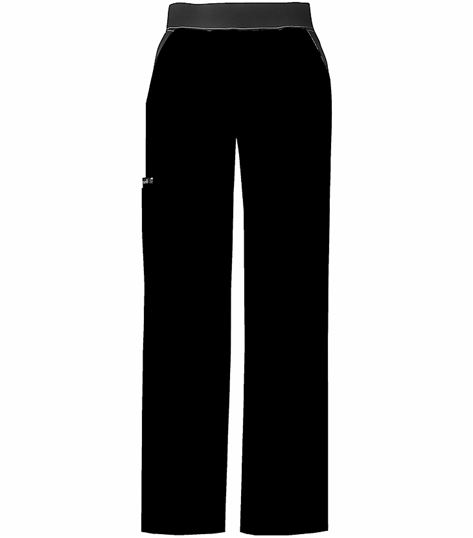 Cherokee Flexibles Mid Rise Knit Waist Pull On Pant 1031