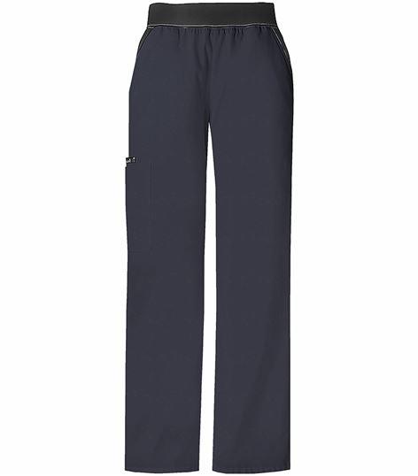 Cherokee Flexibles Women's Elastic Waist Cargo Scrub Pants-1031