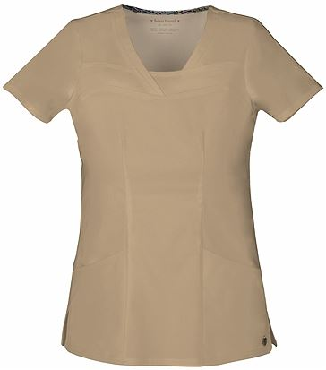 HeartSoul Women's Solid V-Neck Scrub Top-20750