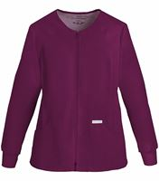 Cherokee Flexibles Women's Zip Up Solid Warm-Up Scrub Jacket-2306