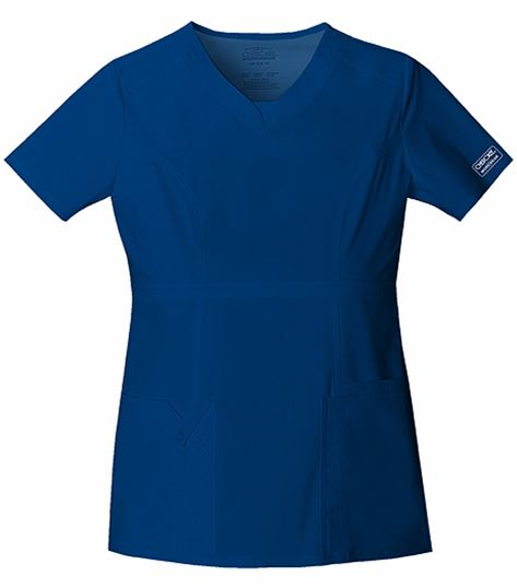 Cherokee WorkWear Stretch V-neck Top 24703