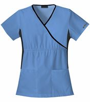 Cherokee Flexibles Women's Mock Wrap Stretch Panel Scrub Top-2500