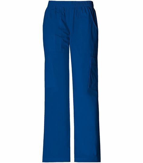 Cherokee WorkWear Stretch Mid Rise Pull On Pant Cargo Pant 4005