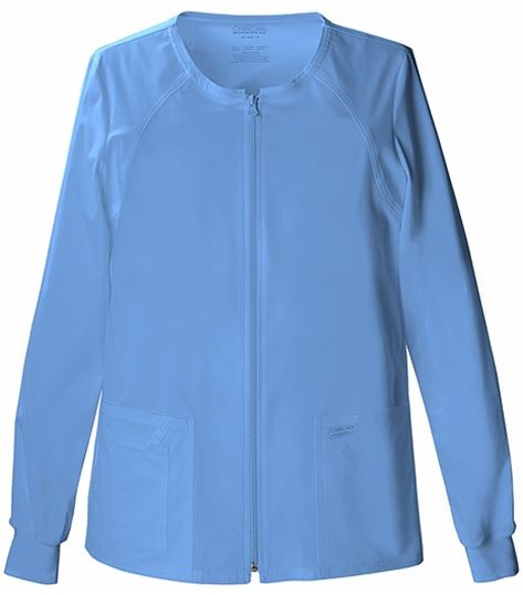 Cherokee WorkWear Core Stretch Women's Zip Up Scrub Jacket-4315