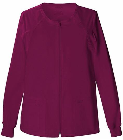Cherokee WorkWear Core Stretch Women's Zip Up Scrub Jacket-4315