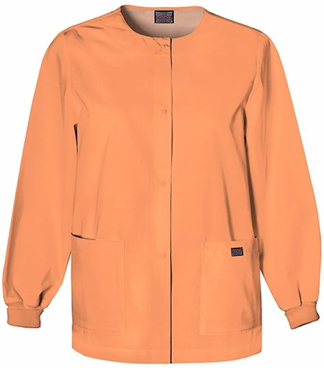 8619c4a7394 Cherokee WorkWear Women's Snap Front Warm-Up Scrub Jacket-4350 | Medical  Scrubs Collection