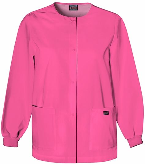 Cherokee WorkWear Women's Snap Front Warm-Up Scrub Jacket-4350