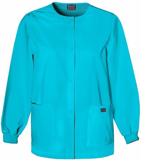 Cherokee WorkWear Women's Snap Front Warm-Up Scrub Jacket-4350