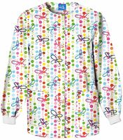 Scrub H.Q. Women's Snap Front Printed Warm-Up Scrub Jacket-4350