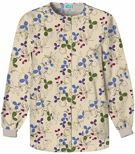 Scrub H.Q. Snap Front Warm-up Jacket 4350-PRINT