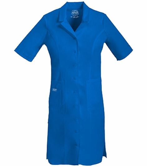Cherokee WorkWear Core Stretch Button Front Nurse Uniform Dress-4508