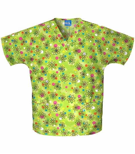 Scrub H.Q. V-neck Top 4700-PRINT
