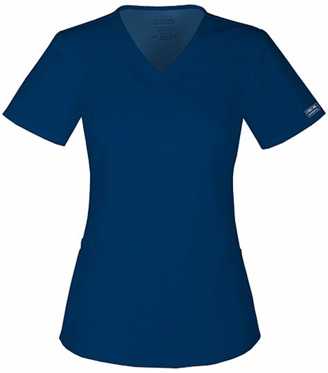 Cherokee WorkWear Stretch V-neck Top 4710