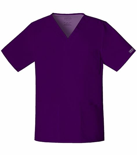Cherokee WorkWear Stretch Unisex V-neck Top 4725
