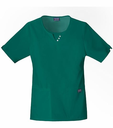 Cherokee WorkWear Women's Round Neck Notched Scrub Top-4740