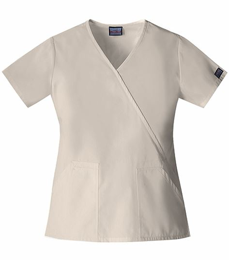 Cherokee WorkWear Women's Mock Wrap Solid Scrub Top-4741
