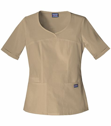 Cherokee WorkWear Women's Rounded V-Neck Scrub Top-4746