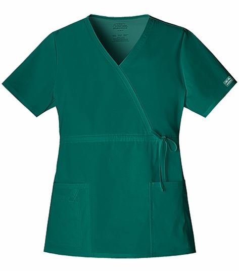 Cherokee WorkWear Core Stretch Women's Mock Wrap Scrub Top-4748