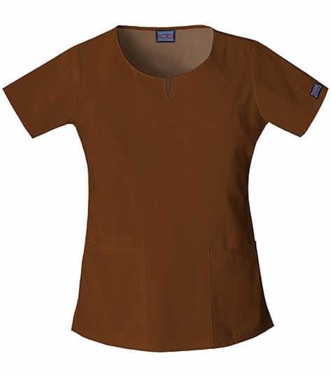 Cherokee WorkWear Women's Notched Crew Neck Scrub Top-4824