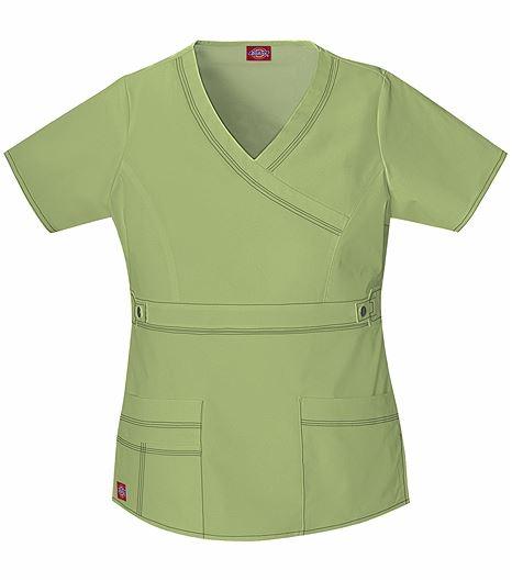 Dickies GenFlex Women's Mock Wrap Solid Scrub Top-817355