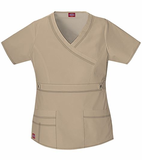 Dickies GenFlex Women's Mock Wrap Solid Scrub Top-817355