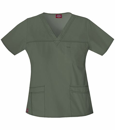 Dickies GenFlex Women's V-Neck Scrub Top-817455