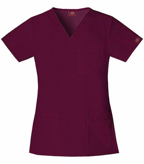 Dickies GenFlex Women's V-Neck Solid Scrub Top-82855