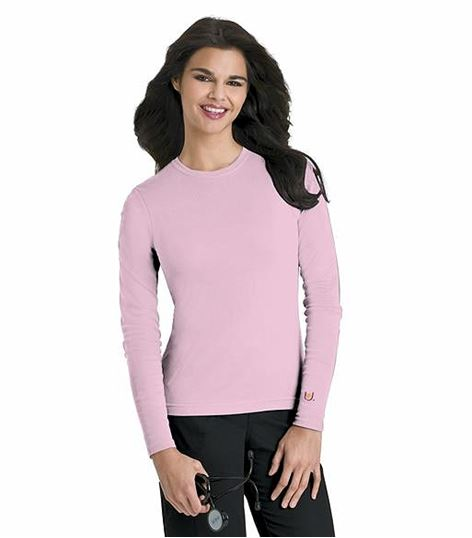 Urbane Women's Longs Sleeves Underscrub Knit Tee-9535