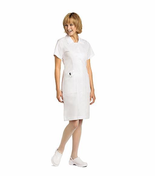 Landau Student White Nursing Scrub Dress-8052