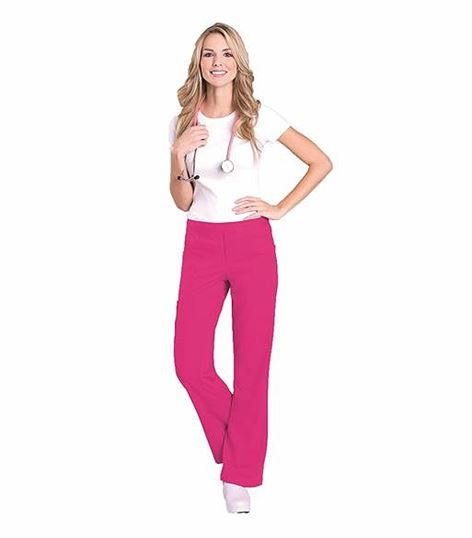 Urbane Women's Drawstring Boot Cut Cargo Scrub Pants-9300