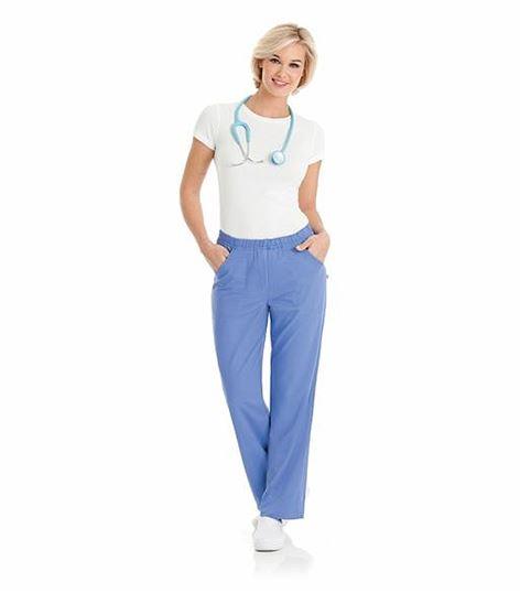 Urbane Ultimate Women's Elastic Waist Flare Leg Alexis Scrub Pants-9306