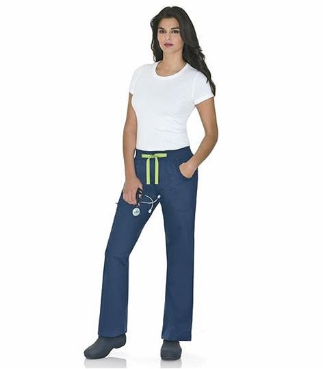 Urbane Women's Drawstring Cargo Scrub Pants-9308