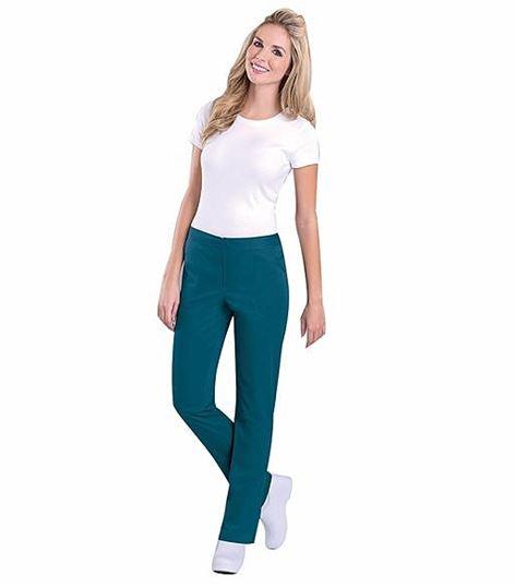 Urbane Women's Skinny Fit Straight Leg Scrub Pants-9313