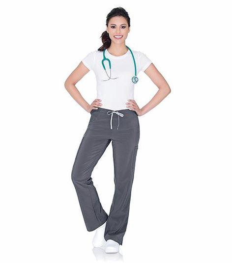 Urbane Women's Drawstring Cargo Yoga Scrub Pants-9312