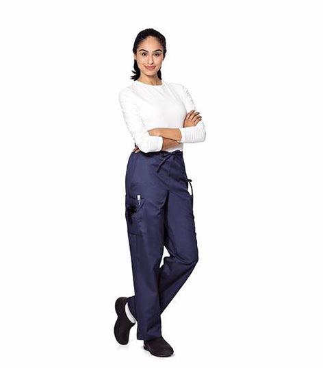 Landau Women's Drawstring Elastic Back Cargo Scrub Pants-8512